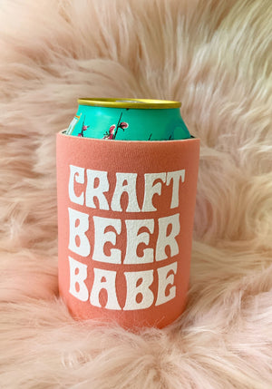 Craft Beer Babe Can Cooler / coozie coozies foam / birthday bachelorette / summer gifts accessories / party koozie koozies
