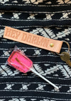 Hey Darlin Leather Key Fob / key chains for women / keychain tag accessories oak tanned / southwest cactus desert souvenir gift