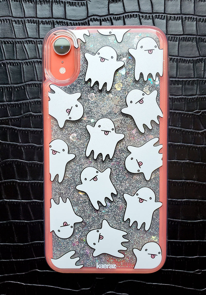Hey Boo Glitter Phone Case / phone cases halloween iphone xr 7 8 plus / phonecases clear / mystical witchy ghost
