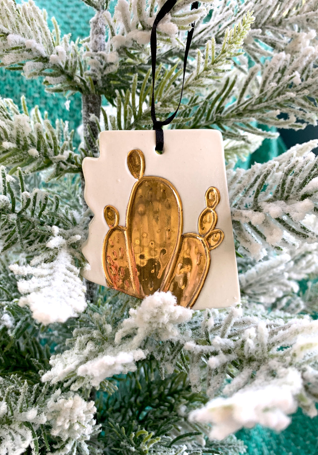AZ Gold Cactus Ornament