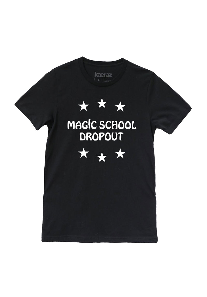 Magic School Dropout Tee / womens graphic tees / witch witchy clothing wizard wizardry tshirt / halloween shirt women / harry mystical