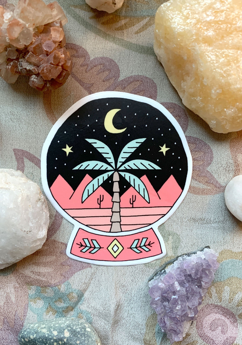 Palm Reader Sticker / stickers pack set laptop art / witch witchy crystal ball / tarot mystical / psychic magic / hand drawn decal