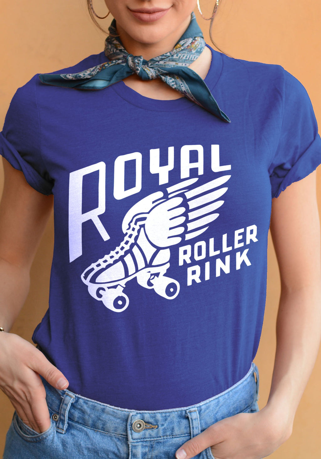 Royal Roller Rink Tee / womens graphic tees / 70s 60s retro vintage style t shirts / roller derby skate skating shirt