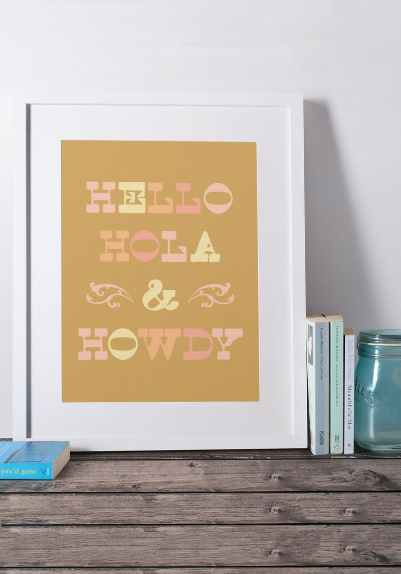 Cowgirl Greetings Poster Print