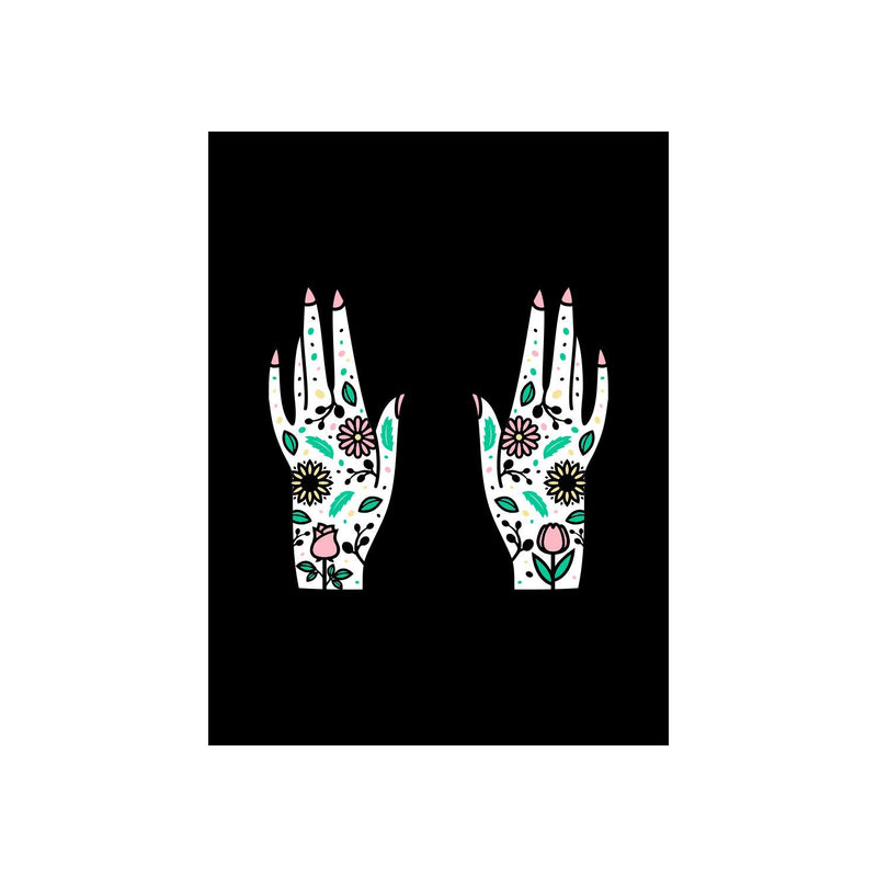 Flower Hands Illustration