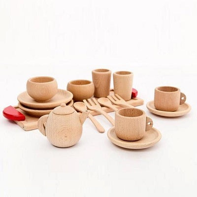 Wooden Cutlery Toddler Pretend Play Kitchen