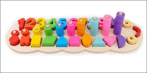 wooden number counting toys