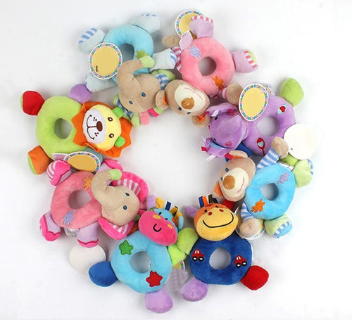 Animal Plush Rattles for Children