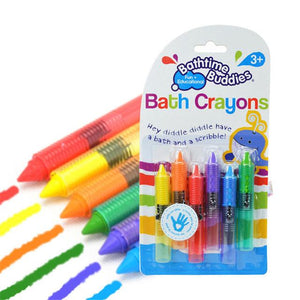 Baby Bath Crayons Washable - 6Pcs/Set By Our Smarter Toddlers