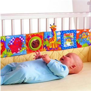 Baby Crib bumper, Soft Book & Baby Rattles By Our Smarter Toddlers