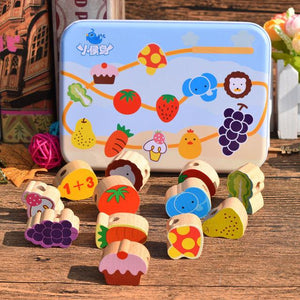 Beech Wood Blocks Cartoon Animals