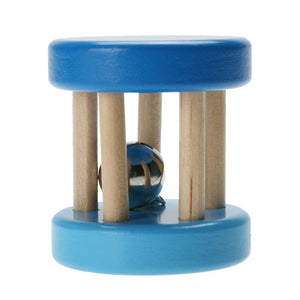 Blue Wooden Rattle By Our Smarter Toddlers