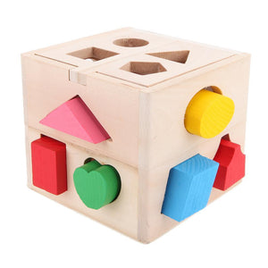 Cognitive and Matching Wooden Shape Sorting Cube By Our Smarter Toddlers