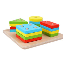 Educational Wooden Geometric Sorting Board Blocks By Our Smarter Toddlers