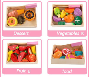 Kitchen Toys Set - Fruits and Vegetables By Our Smarter Toddlers