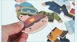 Magnetic Cartoon Clothes Changing Puzzle By Our Smarter Toddlers