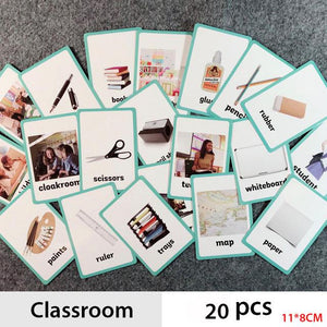 Montessori Flash Cards - 500 words By Our Smarter Toddlers