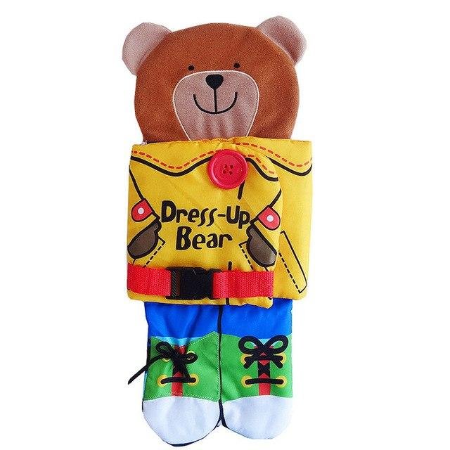 Playpen Dress up Bear (with Book and Soft Rattles) By Our Smarter Toddlers