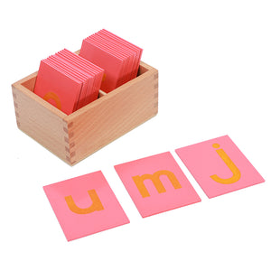 Montessori Lower and Capital Case Sandpaper Letters By Our Smarter Toddlers