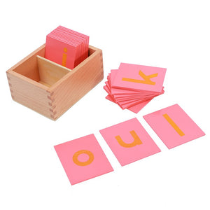 Montessori Lower and Capital Case Sandpaper Letters