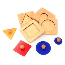 Montessori Educational Wooden Geometry Shape - 4Pcs/Lot By Our Smarter Toddlers