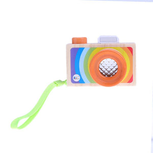 Pretend Play Wooden Camera with Lens