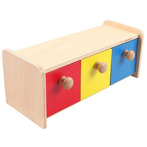 Montessori Wood Colorful Drawer Box