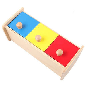 Montessori Wood Colorful Drawer Box By Our Smarter Toddlers