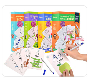 Activity Cards Game Early Learning English Educational Toys for Children By Our Smarter Toddlers
