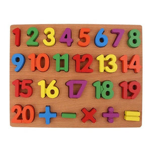 Baby Montessori 3D Wooden Puzzle Early Math By Our Smarter Toddlers