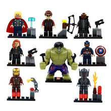 Legoings The Avengers - Hulk,Thor,Captain America, Iron-man, Black Widow- Building Blocks Kit - 8pcs/lot By Our Smarter Toddlers