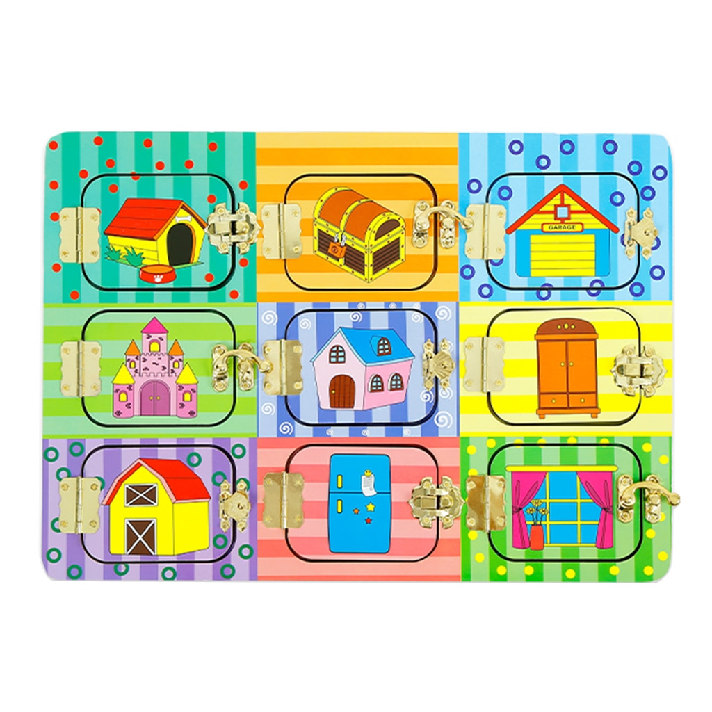 Wooden Exploring Locks & Latches Board By Our Smarter Toddlers