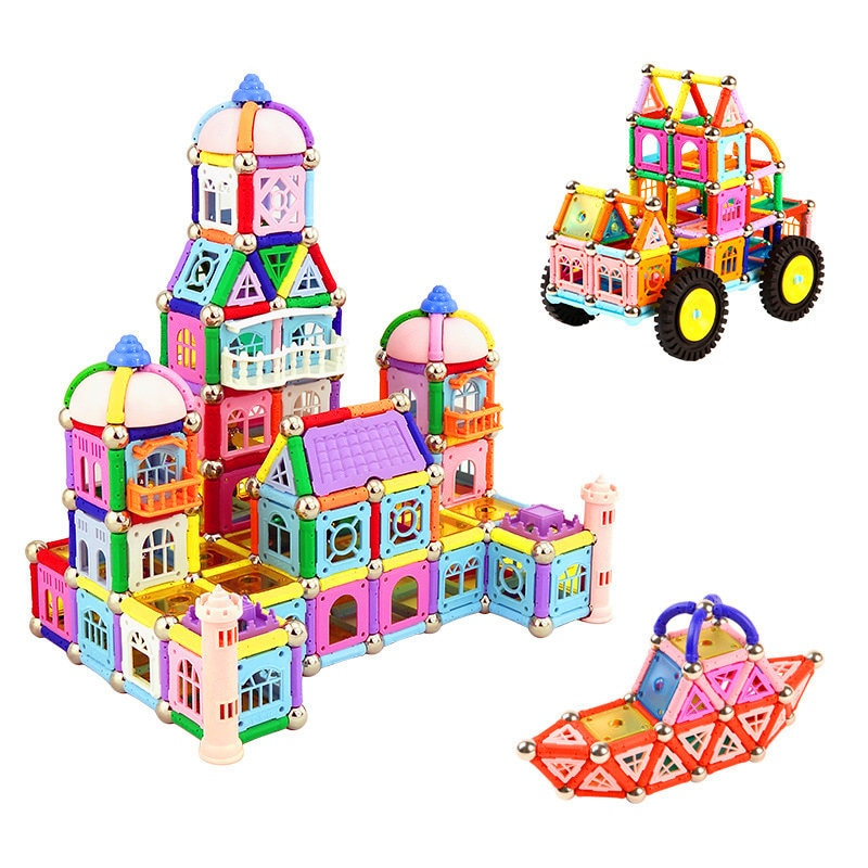 Magnetic Tiles/ Contruction Blocks (380 pcs) By Our Smarter Toddlers