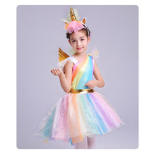 Rainbow Unicorn dress with headband and wings By Our Smarter Toddlers