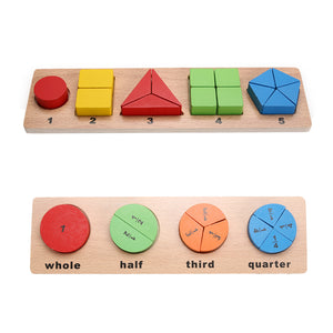 Wooden Geometric Shapes Puzzle