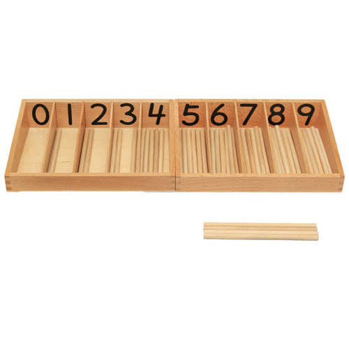 Montessori Mathematics Wood Spindle Box By Our Smarter Toddlers