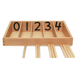 Montessori Mathematics Wood Spindle Box