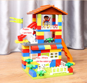 DIY Colorful Building Blocks Castle By Our Smarter Toddlers
