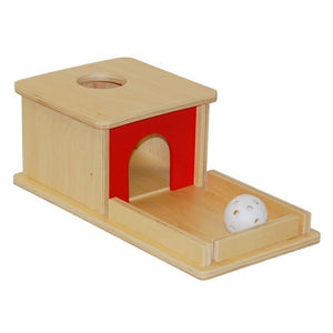 Montessori Object Permanence Box with Tray and Ball By Our Smarter Toddlers