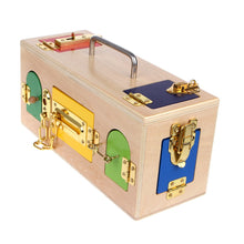 Funny Montessori Colorful Lock Box By Our Smarter Toddlers