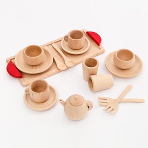 Wooden Cutlery Toddler Pretend Play Kitchen By Our Smarter Toddlers