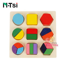 Wooden Geometric Jigsaw Puzzle By Our Smarter Toddlers