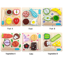 Wooden kitchen cutting fruit and vegetables puzzle By Our Smarter Toddlers