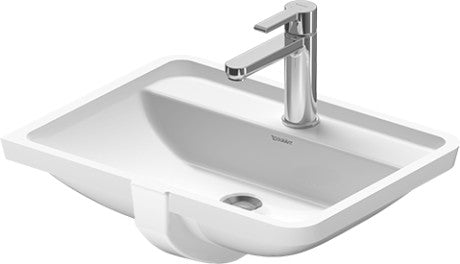 Starck 3 Undercounter Basin 490x365mm 3TH, with O/F, Alpin White