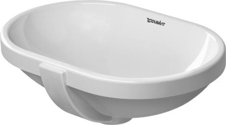 Bathroom Foster Undercounter Basin 430x280mm NTH, with O/F, Alpin White