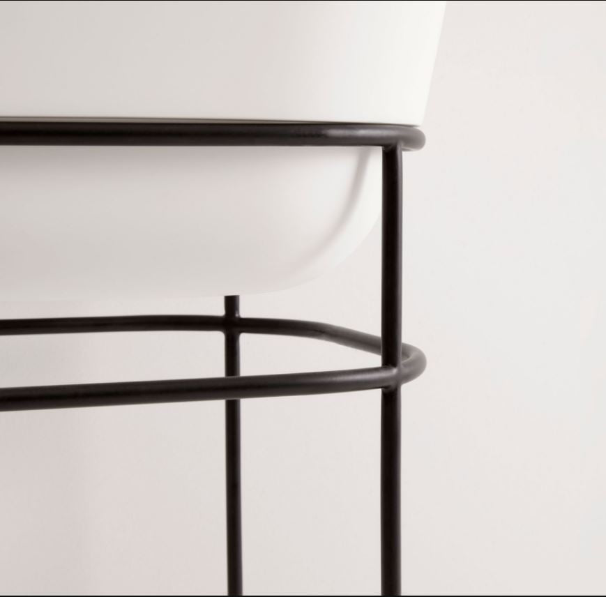 UNITED PRODUCTS Contour Pedestal Basin designed by Thomas Coward Studio - Metal Frame options available (color can be customized) | The Source - Bath • Kitchen • Homewares