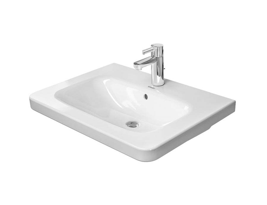 DURAVIT DuraStyle Furniture Washbasin 650x480m, with O/F, Glazed Underneath, Alpin White | The Source - Bath • Kitchen • Homewares