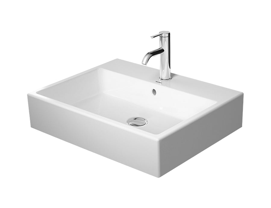 DURAVIT Vero Air Above Counter Basin 600x470mm, with O/F, Glazed Back, Ground, Alpin White | The Source - Bath • Kitchen • Homewares