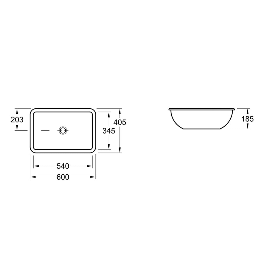 Villeroy & Boch Loop 540 Rectangular Under Counter Basin