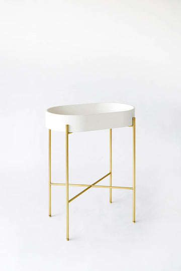 Ex.t Stand Oval Wash Basin - Brass